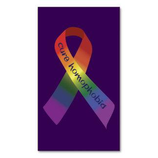 治療の同性愛恐怖症の認識度のリボン マグネット名刺