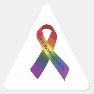 治療の同性愛恐怖症 三角形シール