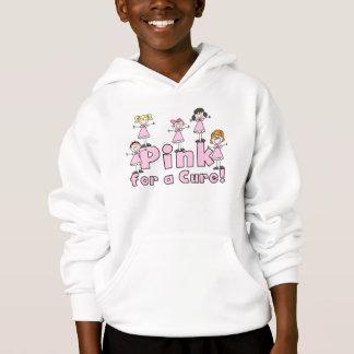 治療の子供のフード付きのスエットシャツのためのピンク