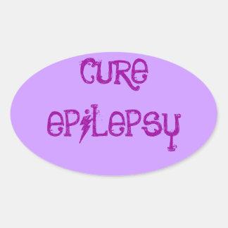治療の癲癇 楕円形シール