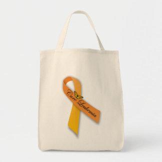 治療の白血病のオレンジリボンのオーガニックな食料雑貨のトート トートバッグ