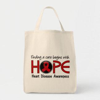 治療は希望5の心臓病から始まります トートバッグ