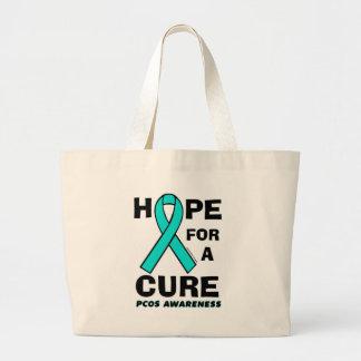 治療… PCOSのための希望 ラージトートバッグ