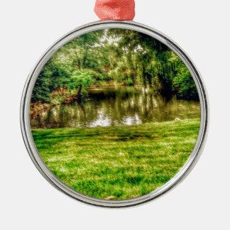 沼地の池 メタルオーナメント