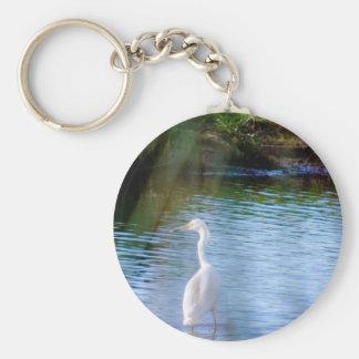 沼地の素晴らしい白鷺 キーホルダー