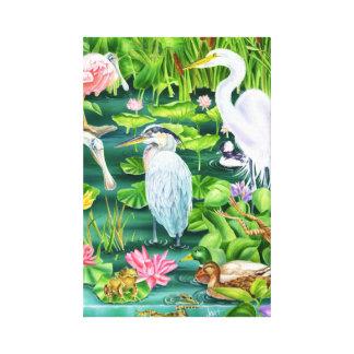 沼地の驚異 キャンバスプリント