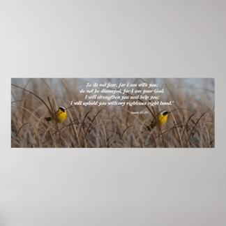沼地の鳥のアイザイアの41:10のプリント ポスター