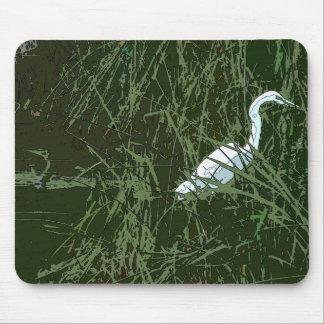 沼地の鳥のマウスパッド マウスパッド