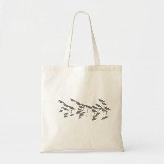沼地の鳥の野性生物動物の写真撮影 トートバッグ