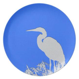 沼地の鳥の野性生物動物の写真撮影 プレート