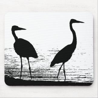 沼地の鳥の野性生物動物の写真撮影 マウスパッド