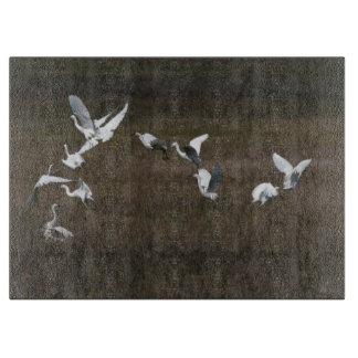 沼地の鳥の野性生物動物の非難 カッティングボード