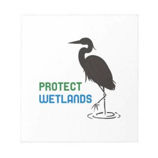沼地を保護して下さい ノートパッド