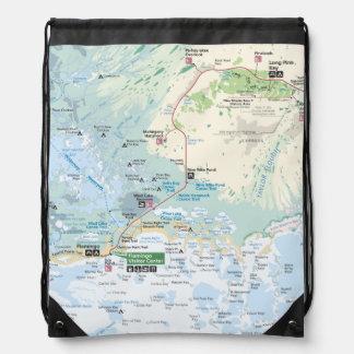 沼沢地の地図のバックパック ナップサック