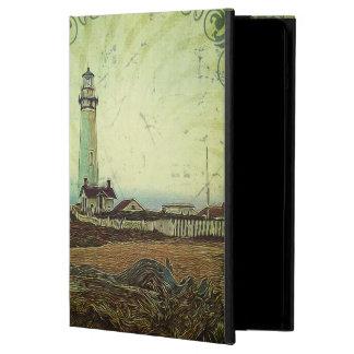 沿岸シックな油絵の景色の灯台 iPad AIRケース