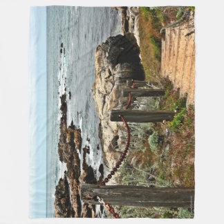沿岸ステップ毛布 フリースブランケット