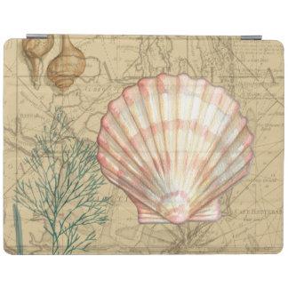 沿岸地図のコラージュ iPadスマートカバー
