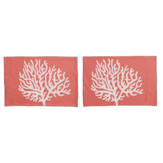 沿岸白海の珊瑚及び珊瑚のピンク 枕カバー