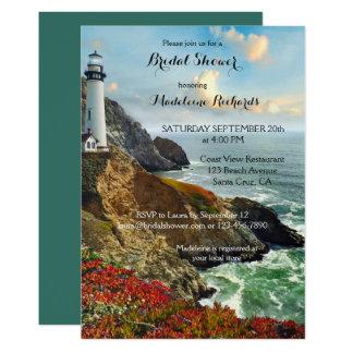 沿岸眺めのブライダルシャワーの招待状 カード
