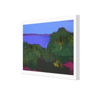 沿岸眺めの絵画 キャンバスプリント