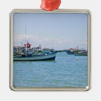 沿岸芸術の青い海およびボートの写真 メタルオーナメント
