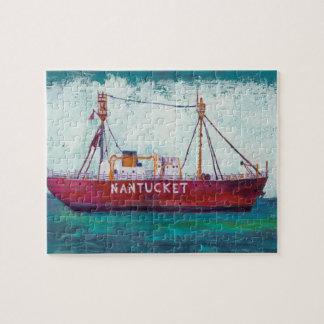 沿岸芸術| NantucketのLightship ジグソーパズル