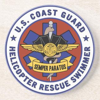 沿岸警備隊の救助の泳ぐ人 コースター