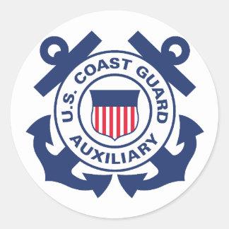 沿岸警備隊の補助者のステッカー ラウンドシール