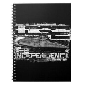 沿海の戦闘船の独立螺線形の写真 ノートブック