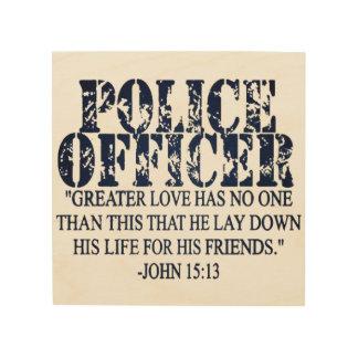 法の執行の祈りの言葉 ウッドウォールアート