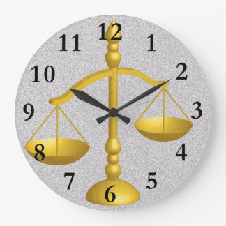 法律および正義のはかりで測られる ウォールクロック