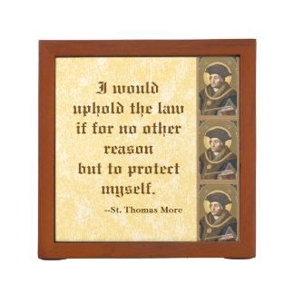 法律のもっとセントトーマスの(SAU 026)有名な引用文 ペンスタンド