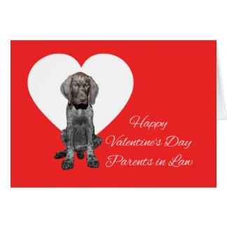 法律の光沢のあるハイイログマのバレンタインの初恋の親 カード