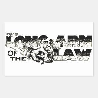法律の長い腕 長方形シール