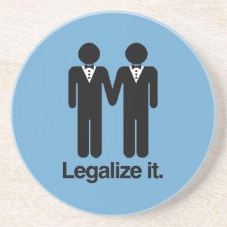 法律化して下さい|同性愛者|結婚式 ドリンクコースター
