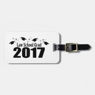 法律学校の卒業生2017の帽子および免状(黒) ラゲッジタグ