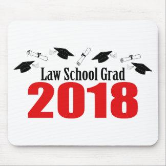 法律学校の卒業生2018の帽子および免状(赤い) マウスパッド
