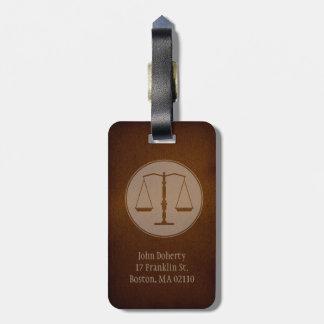 法律 弁護士のAttprney ラゲッジタグ