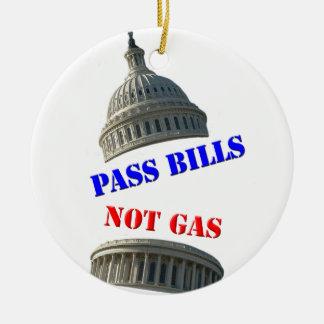 法案ガスの円形のクリスマスのオーナメントではなくを可決して下さい 陶器製丸型オーナメント