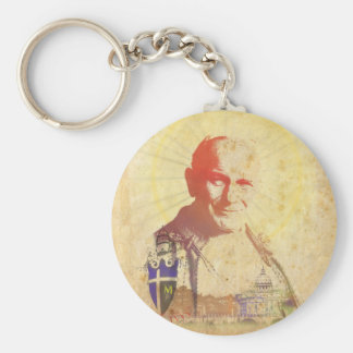 法王ヨハネパウロ二世の教皇の頂上 キーホルダー