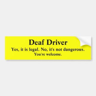 法的および安全な耳が聞こえない運転 バンパーステッカー