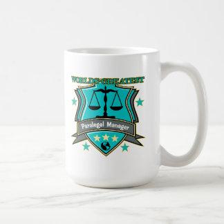 法的世界ですばらしいパラリーガルのマネージャー コーヒーマグカップ