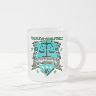 法的世界ですばらしいパラリーガルの管理者 フロストグラスマグカップ