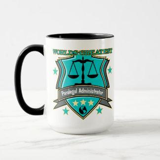 法的世界ですばらしいパラリーガルの管理者 マグカップ