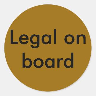 法的船上に ラウンドシール