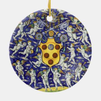 法皇のレオ紋章付き外衣X セラミックオーナメント