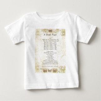 法皇のfrancis=のSt Francisのシンプルな祈りの言葉の=butterflie ベビーTシャツ