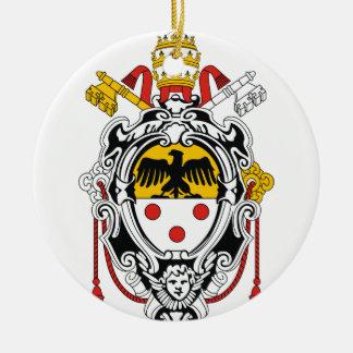 法皇のPius紋章付き外衣XI セラミックオーナメント