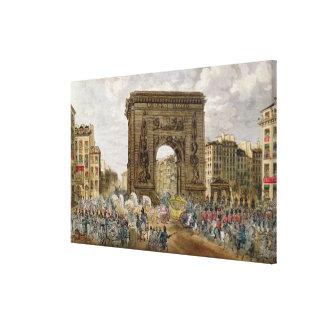 法皇のPius行列パリのVII キャンバスプリント