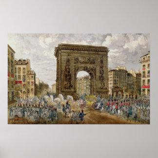 法皇のPius行列パリのVII ポスター